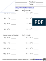 Measurement Convert Fahrenheit Celsius