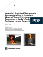 Uncertainty analysis of thermocouples