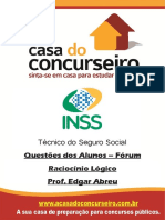 Questoes de Alunos Forum Inss 2015 Raciocinio Logico Edgar Abreu