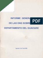 Informe General de Las ONG Sobre El Departamento Del Guaviare Agosto 2 Al 5 de 1996