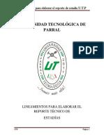 Lineamientos Memoria TSU 23-May-17