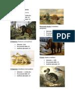 Animales Antiguos Extintos y Actuales