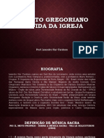 Canto Gregoriano Na Vida Da Igreja