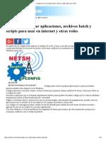 Codigos Batch Para Crear Aplicaciones, Batch y Scripts Utiles Para Redes
