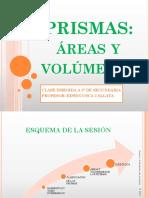 Areas y Volúmenes de Prismas