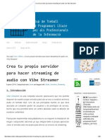 Crea Tu Servidor Para Hacer Streaming de Audio Con Vibe Streamer