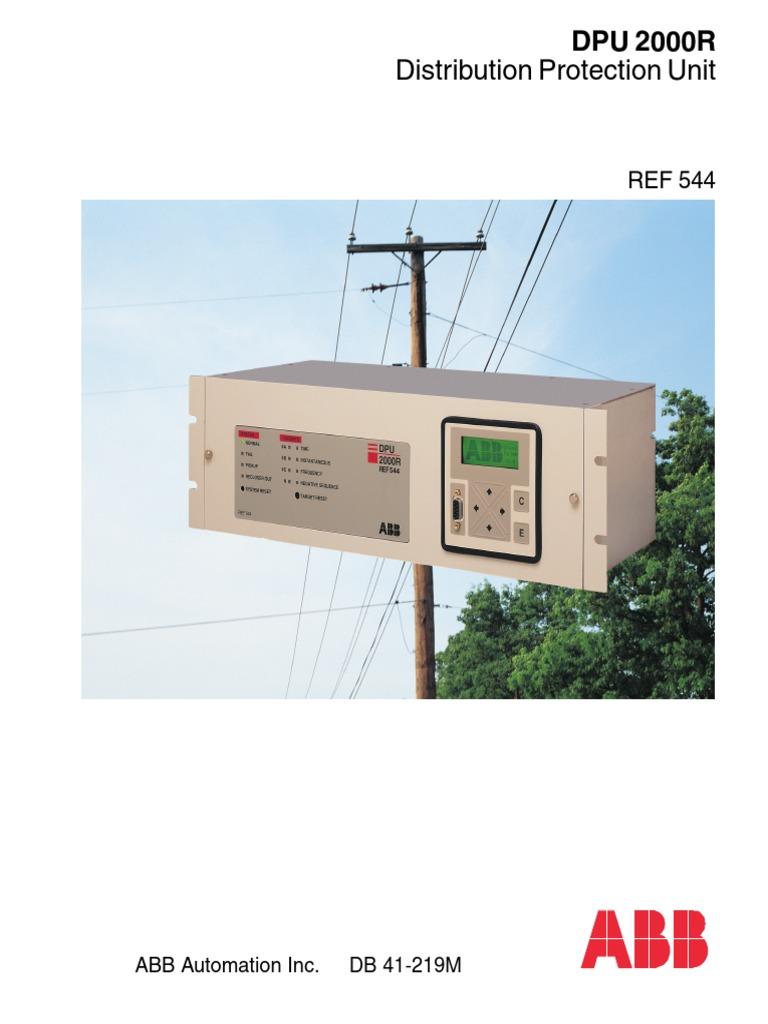 ABB DPU 2000R Distribution Protection Unit.pdf   Relay ... Abb Dpu R Wiring Diagram on