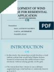 Development of Wind Turbine for Residential Application