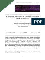 Development of Wireless Sensor Network Using Bluetooth Low Energy