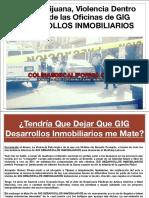Abusa GIG DESARROLLOS INMOBILIARIOS de Trabajadores Obliga Firma de Renuncia Antes Que Contrato y Condiciona Pago de Salarios