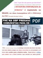 FHC Comunista Dissimulado Teoria Das Tesouras Fabianismo