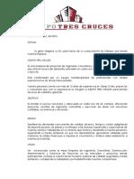 Carta de Presentacion Grupo Tres Cruces