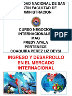 2. Ingreso y Desarrollo en El Mercado Internacional