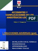 Accidentes y complicaciones de anestésicos locales