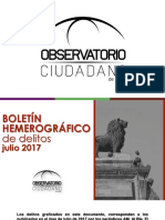 Boletín Hemerográfico OCL Julio 2017-Tema Armas