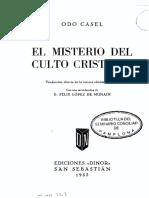 CASEL ODO El Misterio Del Culto Cristiano