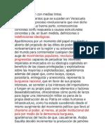 Una Revolución Con Medias Tintas (VENEZUELA)