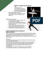 Vestuario Femenino y Masculino de Balet