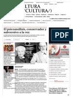 ROUDINESCO El psicoanálisis, conservador y subversivo a la vez - Grupo Milenio