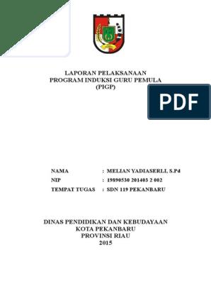 Contoh Laporan Program Induksi Guru Pemula 2015