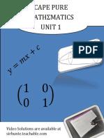 Cape Pure Mathematics Unit 1 Book