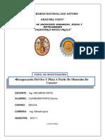 Recuperacion de Oro a Partir de Cuarzo (1)