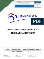 IO-CON-05-007 Rev. 1 Prueba de Adherencia