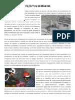 Trabajos Con Explosivos en Mineria