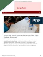10+ Contoh Surat Lamaran Kerja yang Baik dan Benar Lengkap! [+Doc]