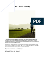 Five Reasons for Church Planting