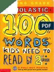 100 Vocabulary Words 2nd Grade