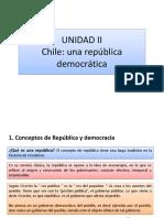 II Unidad - Republica Democracia