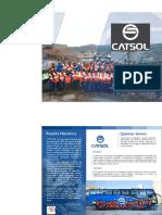 Brochure Catsol, Cajamarca-Perú