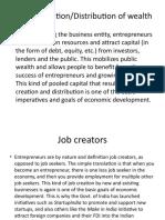 Economic Contribution of Entrepreuneurs