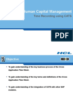 Time Recording Using Cats