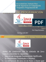 Lenguaje de Programación Java Parte 2