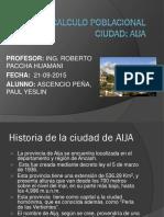 Calculo Poblacional de La Ciudad de Aija-Ascencio