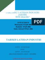 Taklimat Latihan Industri (Akhir)