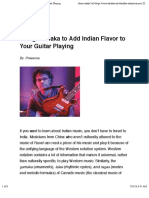Using Gamaka to Add Indian Flavor to Your Guitar Playing