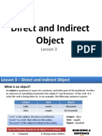 Lesson 3 - Direct and Indirect Object
