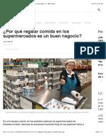 ¿Por qué regalar comida en los supermercados es un buen negocio? - BBC Mundo