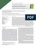 2008 Freeze Drying of Human Serum Albumin (HSA) Nanoparticles