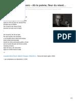 Leopoldo María Panero – Ah le poème, fleur du néant