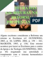 11 Leitura Das Escrituras Na Reforma Protestante