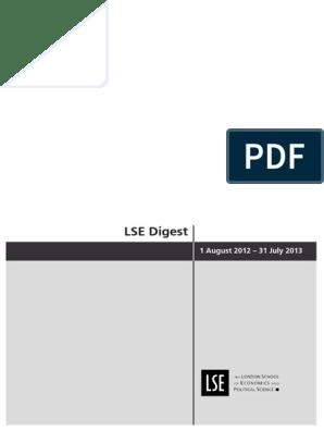 LSEDigest2012-13   London School Of Economics   Investing