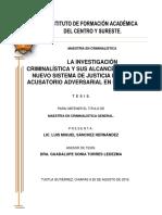 TESIS SOBRE INVESTIGACION CRIMINALISTICA
