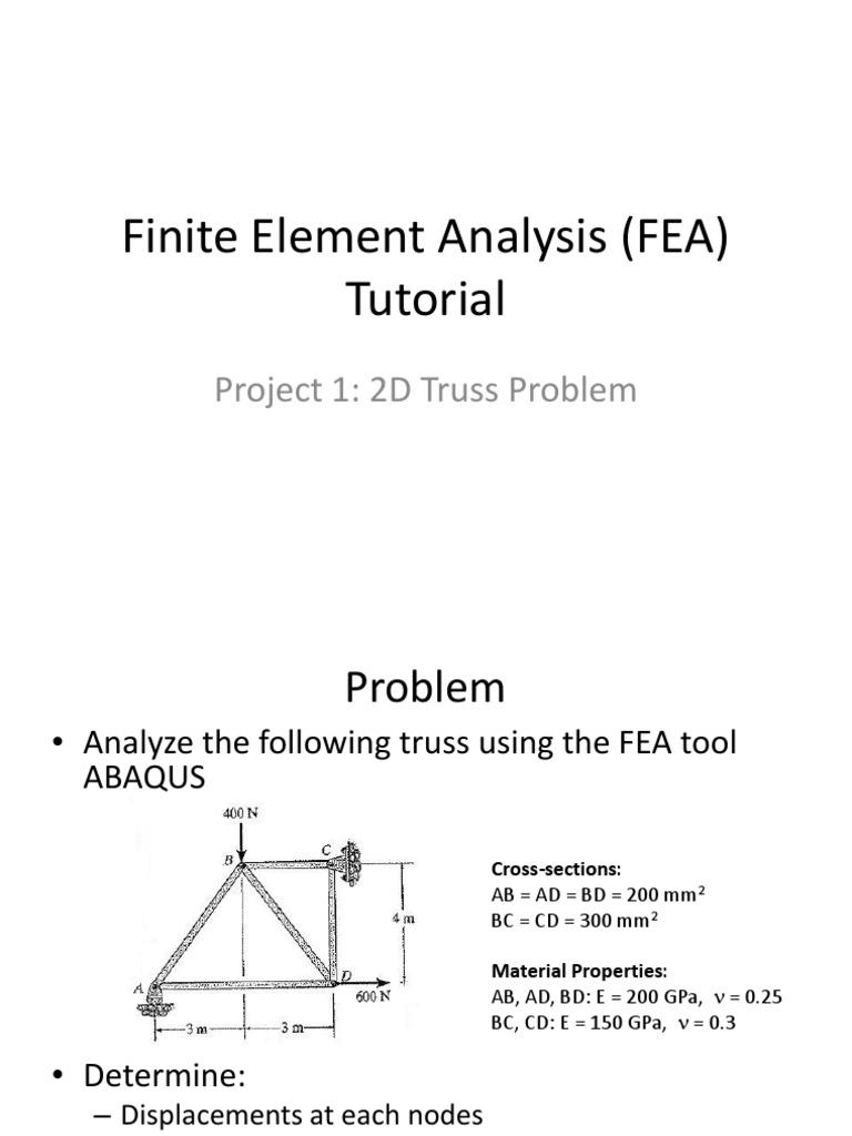 Truss-FEAsteps-ppt pdf | Double Click | Finite Element Method