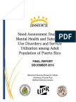 Need Assessment Study of Mental Health and Substance of Puerto Rico 2016