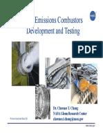 Low Emissions Combustors