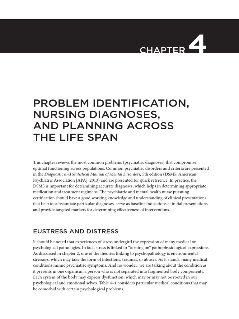 Problem identification nursing diagnosis   Schizophrenia ...